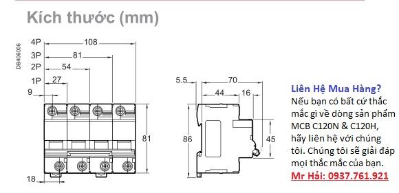 MCB Acti9 C120N & C120H Schneider
